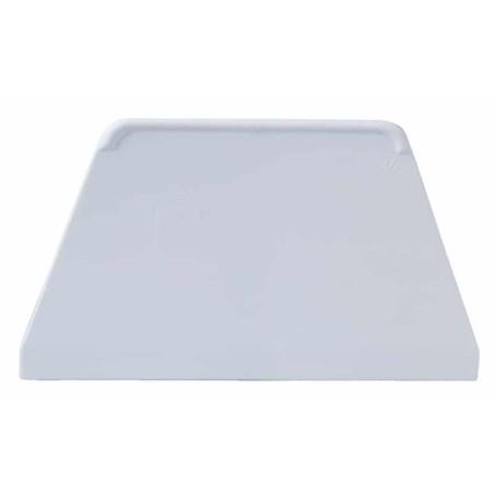 Coupe pâte / Racloir / Corne forme Trapèze plastique blanc ProCouteaux