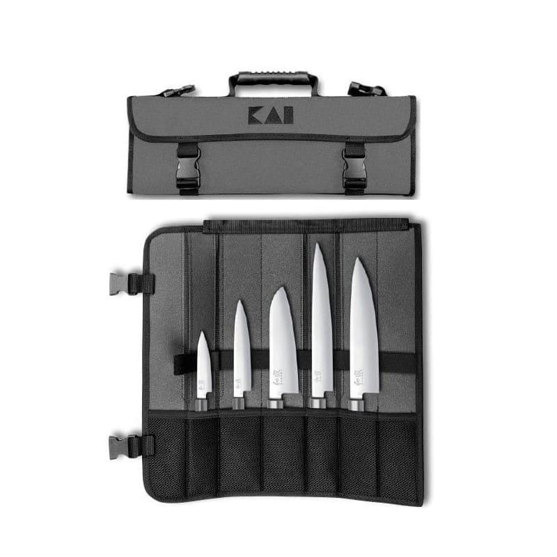 Mallette Kai avec 5 couteaux japonais Wasabi Black ProCouteauc