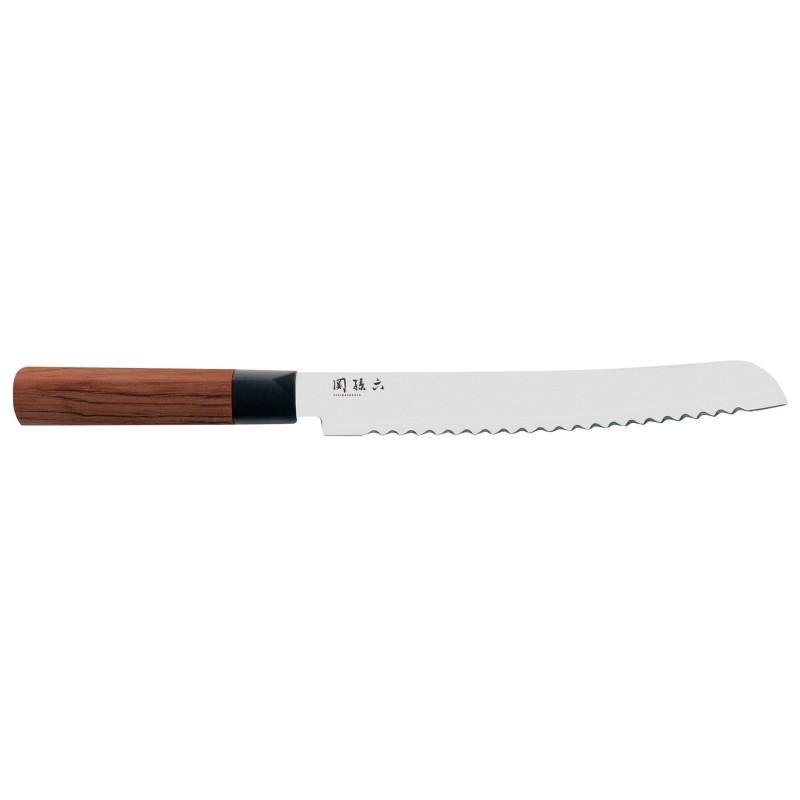 Couteau à pain - Kai Seki Magoroku RedWood - 22.5cm - procouteaux