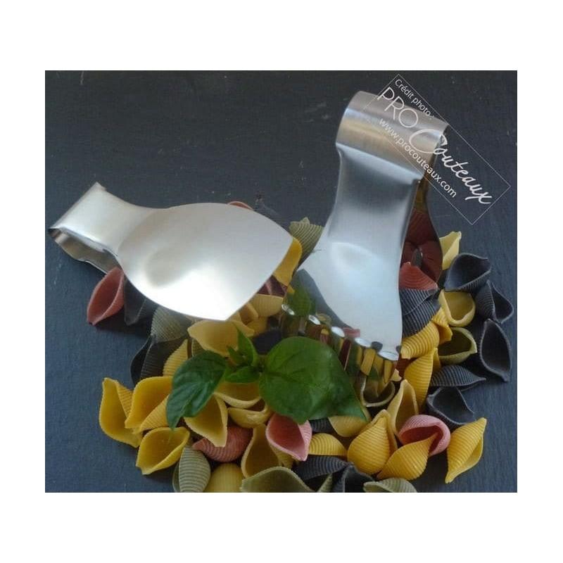 Lot de 2 mini Pinces à salade design main - 14cm Procouteaux