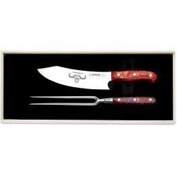 Couteau Chef 20cm + fourchette - Giesser Premium Cut - Diamant Rouge