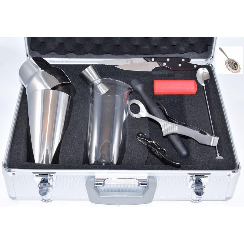 Mallette Barman Pro 11 pièces. Mallette en aluminium pour formation et professionnel ProCCouteaux