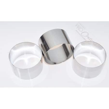 Cercles à mousse/entremet individuelle - Ø7cm  - Lot de 3 pièces - procouteaux