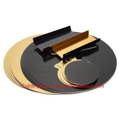 Carton double-face or / noir en assortiment de 40 pièces