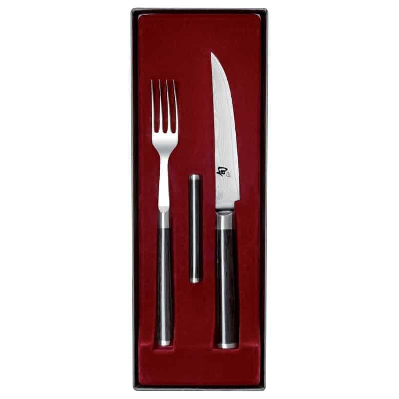 Set Couteau et Fourchette de Table Japonais - Kai Shun Classic - procouteaux
