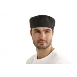 Calot de Cuisinier avec filet - Homme/Femme - Noir - procouteaux