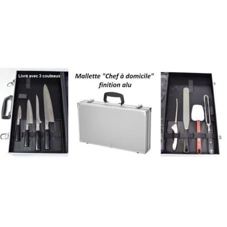Mallette Chef Alu Couteaux Japonais VG10 SENZO SUNCRAFT 8 pièces ProCouteaux