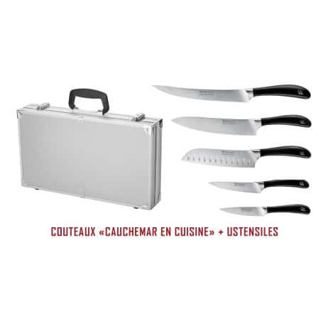 Mallette - Cauchemar en cuisine - 8 ustensiles - Version Alu.