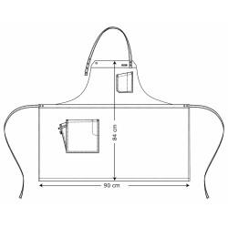 Tablier Kentaur - 2 en 1 - Authentique - Noir - Bretelles marrons