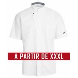 Veste de cuisine KENTAUR - Kevin - Manches courtes - BLANC - GRANDE TAILLE