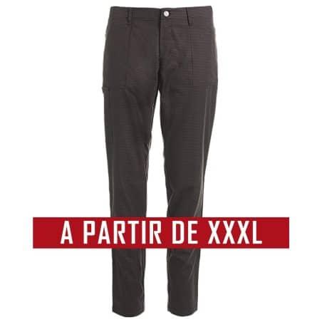 Pantalon cuisine service KENTAUR - PantaSmart - NOIR ET GRIS - GRANDE TAILLE