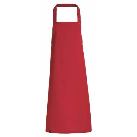 Tablier de cuisine avec bavette - Kentaur - ROUGE