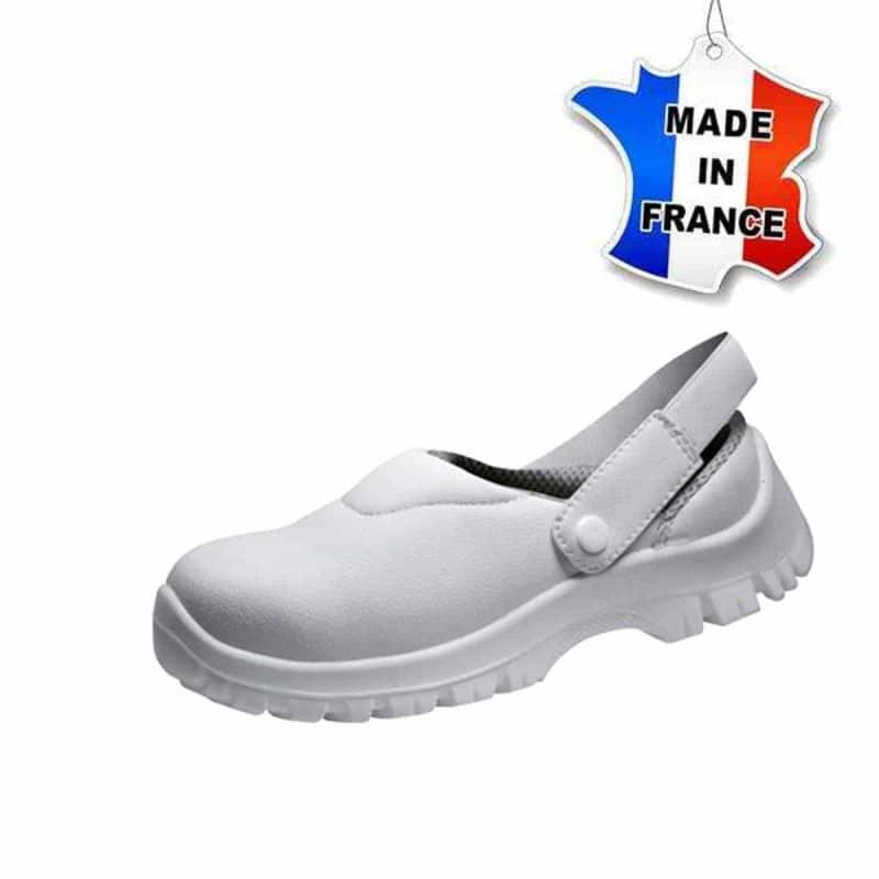 Chaussures de sécurité - Sabots - Cuisine - Made In France - BLANC