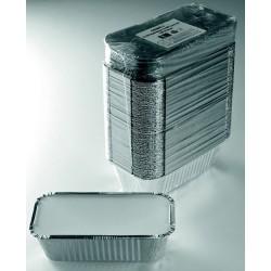 Barquette alu avec couvercle 685ml - 201x109x49mm. Carton de 1000 pièces  Procouteaux