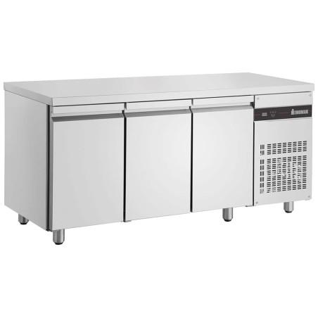 Table de froid adossée 3 portes pleines 1790x700x870mm