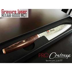 couteau japonais gravé