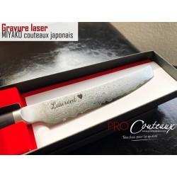 gravure LASER sur couteaux japonais