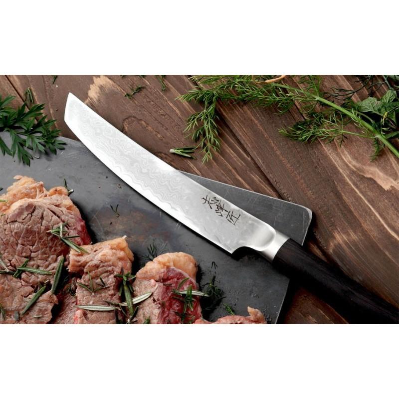 Couteau steak 100% japonais - Damas VG10 - 12,5cm ProCouteaux