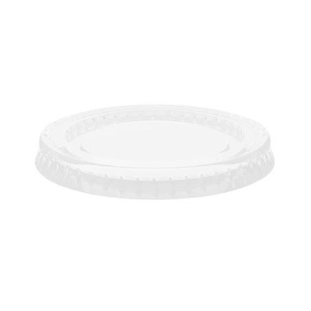Couvercle pot à sauce translucide POS - Ø74mm / 10cl. Carton 2500 pièces