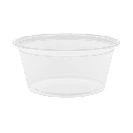 Pot à sauce Solo micro-ondable 10cl PS - Ø74mm H41mm. Sans couvercle - Carton de 2500 pièces
