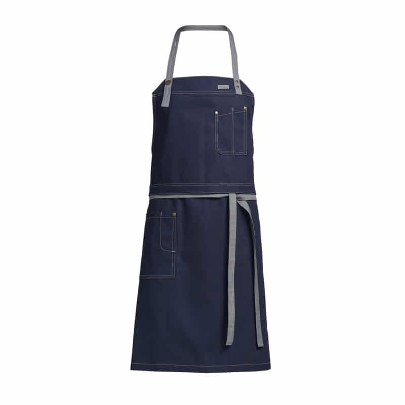 Tablier Kentaur - 2 en 1 - Authentique - Bleu Jeans - Bretelles Grises - ProCouteaux