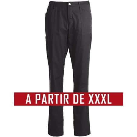 Pantalon cuisine service KENTAUR - PantaSmart - BLEU MARINE - Grande Taille