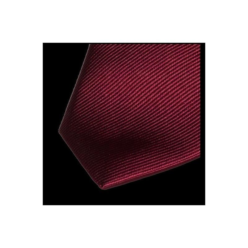 Cravate en soie - Bordeaux - Service