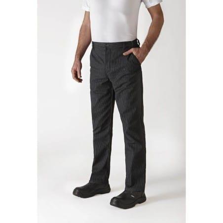 Pantalon TIMEO - rayé noir blanc - Cuisine - ROBUR