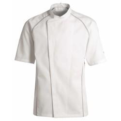 Veste de cuisine KENTAUR - Teddy - Manches courtes - BLANC