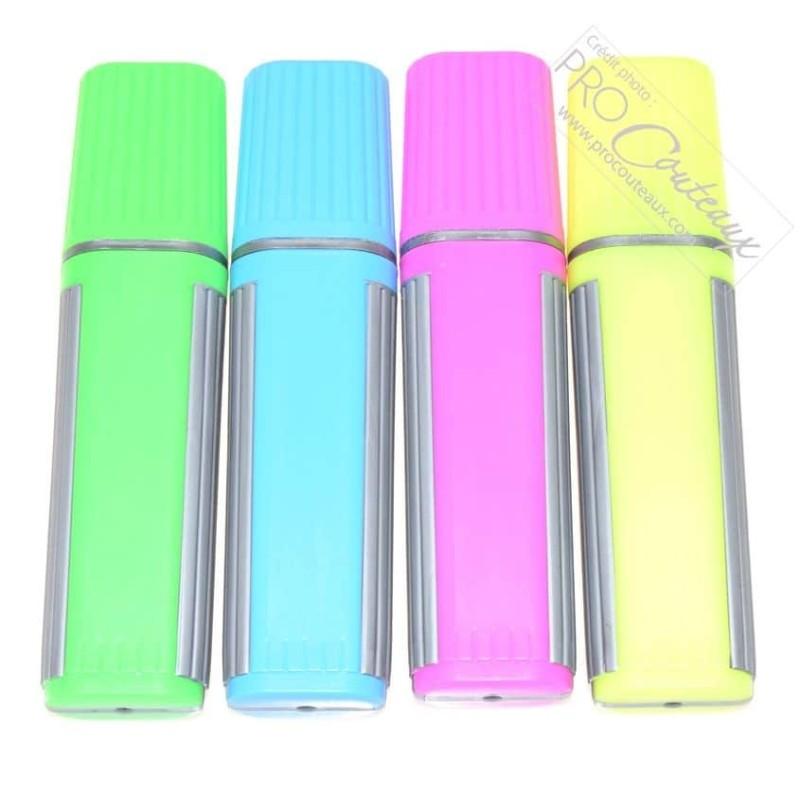 Feutres surligneurs fluo de couleur, lot de 4 pièces - procouteaux