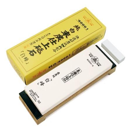 Pierre à aiguiser Japonaise - Miyako - grain 6000 + pierre à aplanir ProCouteaux
