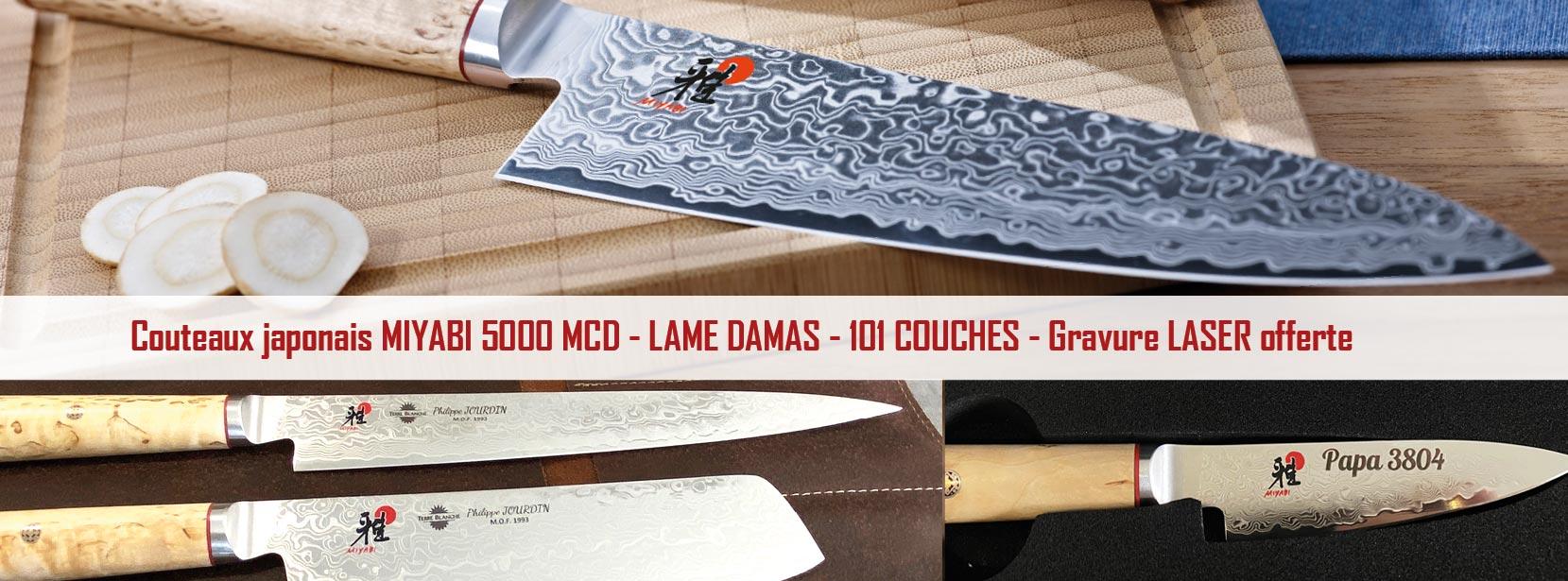 miyabi gamme 5000MCD couteaux japonais