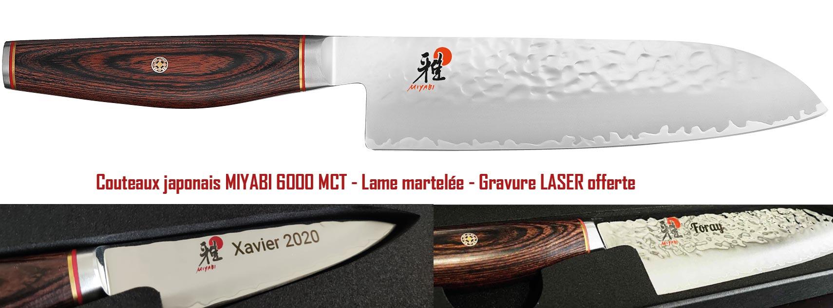 Collection de couteaux japonais 6000MCT MIYABI