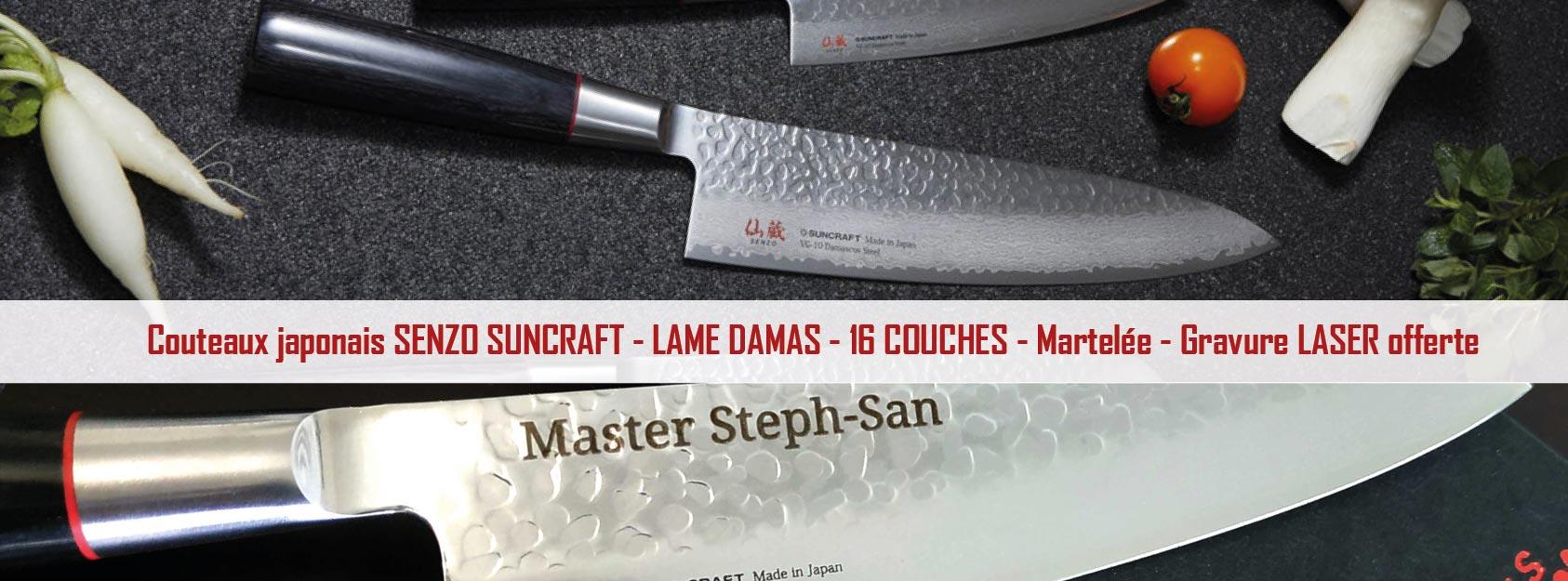 Collection de couteaux japonais Suncraft