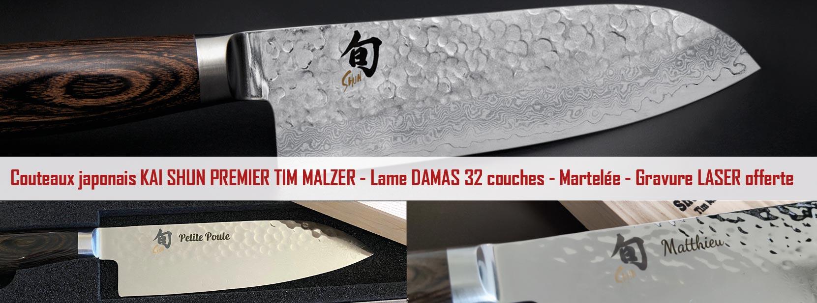 Collection de couteaux japonais gravés