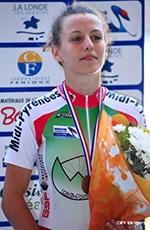 Valentine Fortin, championne cycliste