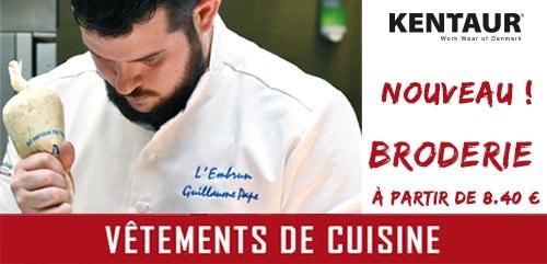 Vestes de cuisine professionnelle Kentaur